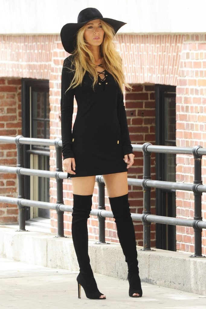 Outfits with Thigh High Boots Club Outfit