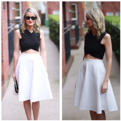 Summer Fashion Trends crop-top and midi-skirt